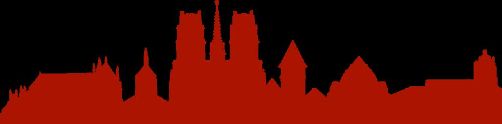 Silouhette des clochers d'Orléans